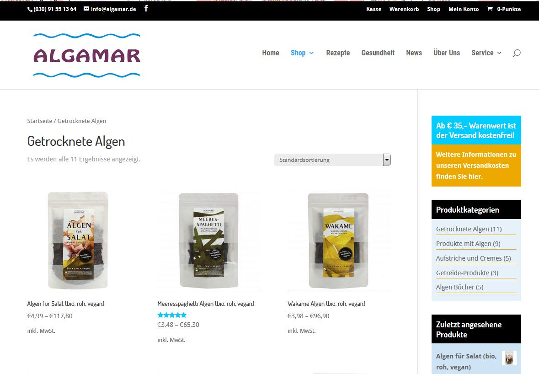 Algamar Online shop